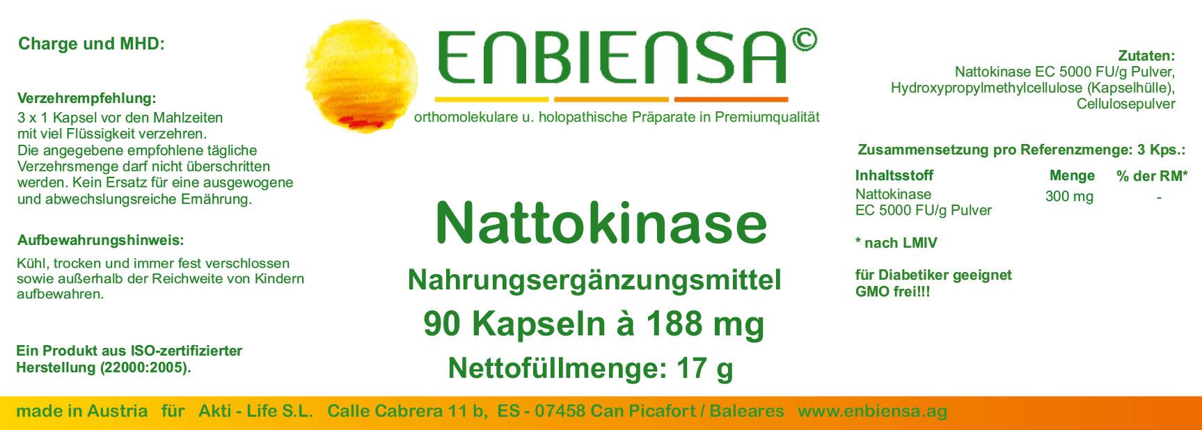 Enbiensa Nattokinase - Enbiensa